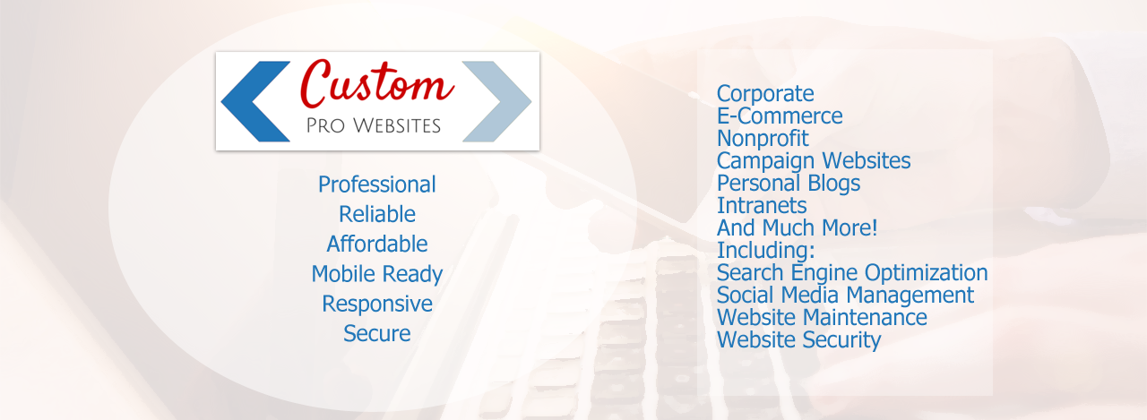 Order your custom pro website today!